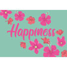 ha024 | happiness | Happiness - Postkarte A6