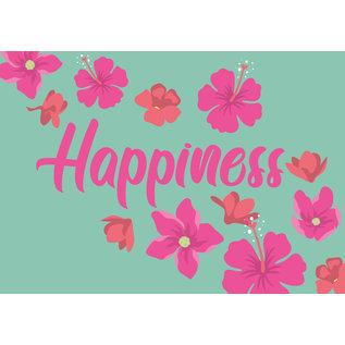ha024 | happiness | Happiness - Postkarte A6