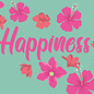 ha024| happiness | Happiness - postcard A6