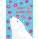 ha025| happiness | Icebear - postcard A6