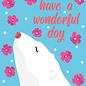 ha025| happiness | Icebear - postcard A6