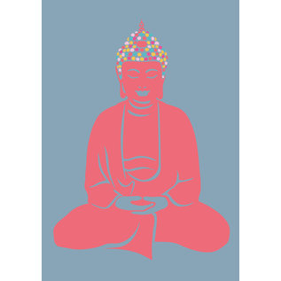 ha027 | happiness | Buddha - postcard A6