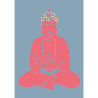 ha027 | happiness | Buddha - Postkarte A6