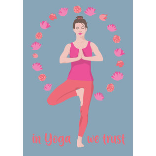 ha028 | happiness | In Yoga we trust - postcard A6