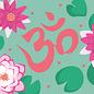 ha029   happiness   OM und Lotusblüten - Postkarte A6