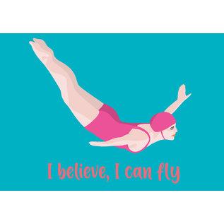 lu121| luminous |  I believe I can fly - Postkarte A6
