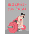 lu122 | luminous | Weight Lifter  - postcard A6