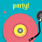 lu123 | luminous | Let's Party  - postcard A6