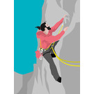 lu124 | luminous | Climber  - postcard A6