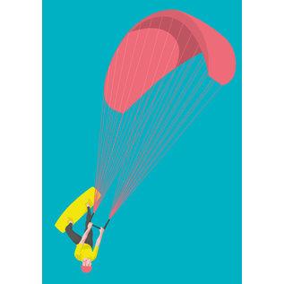 lu125 | luminous | Kiter  - postcard A6