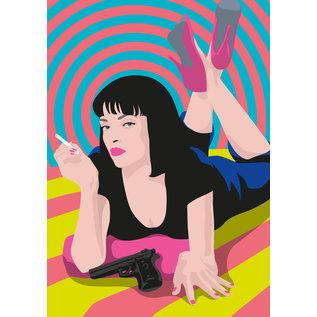 ng200 | pop art new generation | Mia Wallace - Postkarte A6