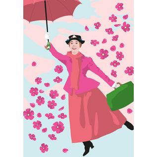 ng201   pop art new generation   Mary Poppins - Postkarte A6
