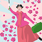 ng201 | pop art new generation | Mary Poppins- postcard A6