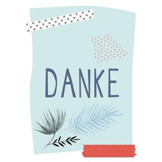 fzpa031 | Pastellica | Danke - Postkarte A6