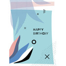 fzpa032 | Pastellica | Happy Birthday - Postcard