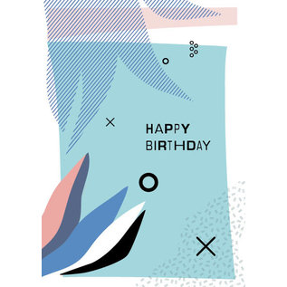 fzpa032 | Pastellica | Happy Birthday - Postcard A6