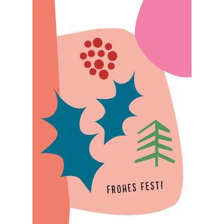 fzpa042 | Pastellica | Frohes Fest- Postkarte  A6
