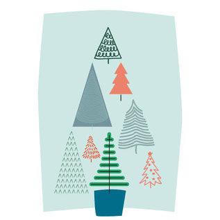 fzpa043 | Pastellica |Trees- Postkarte  A6