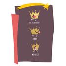 fzpa045 | Pastellica | Eilige drei Könige - Postkarte