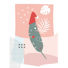 fzpa047 | Pastellica | Palmenblattmütze - Postkarte