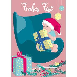 lcx001 | lucky cards | Frohes Fest - postcard