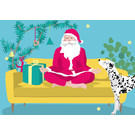lucky cards lcx007 | lucky cards | Yoga Weihnachtsmann - Postkarte
