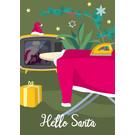 lcx010 | lucky cards | Weihnachtsmanns Bügelbrett - Postkarte