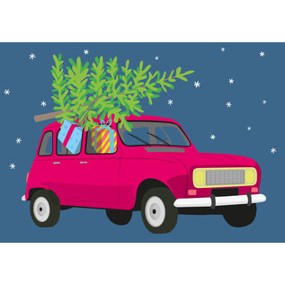 ccx024 | crissXcross | R4 with christmas tree- postcard A6