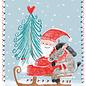 SG218 | schönegrüsse | Rodeln mit Nikolaus - Postkarte A6