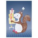 sg220 | schönegrüsse | Squirrel with gift - postcard A6