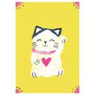 sg221 | schönegrüsse | Lucky cat- postcard A6