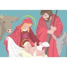 lux027 | luminous | Christmas crib- postcard A6