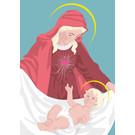 lux028 | luminous | Maria mit Jesuskind- Postkarte A6