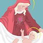 lux028 | luminous | Maria with Jesus child - postcard A6