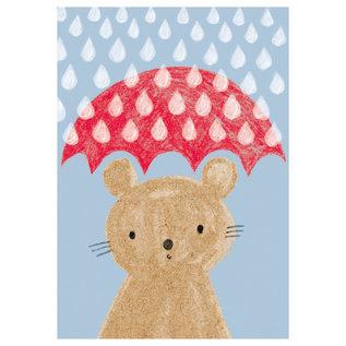 sg194 | schönegrüsse | Maus mit Schirm - Postkarte A6