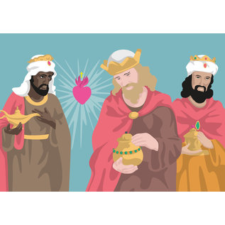lux029 | luminous | 3 wise man from the east- postcard A6