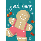 lux030 | luminous | Gingerbread man - postcard A6