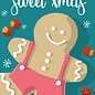 lux030 | luminous | Gingerbread man - postcard A6