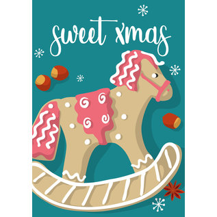 lux031 | luminous | Xmas horse - postcard A6
