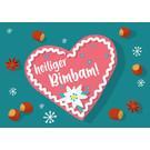 lux032   luminous   Heiliger bimbam - postcard A6