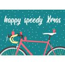 lux035 | luminous | Holy speedy Xmas Rad - Postkarte