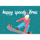 lux036 | luminous | Holy speedy Xmas Snowboard - postcard A6
