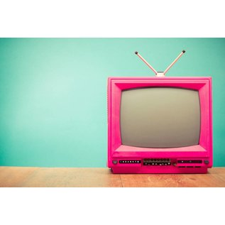 b025 | brocante | TV Set - postcard A6