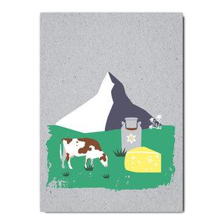 fzgc035 |  Gray-Code | Matterhorn - postcard  A6