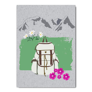 fzgc036    Gray-Code   Backpack- postcard  A6