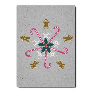 fzgc040 |  Gray-Code | Zuckerstangen Kaleidoskop - Postkarte  A6