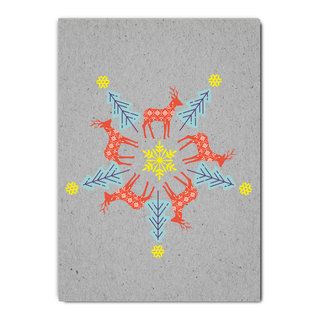 fzgc042 |  Gray-Code | Reh Kaleidoskop - Postkarte  A6