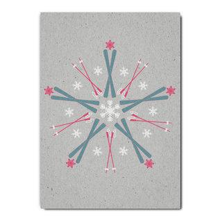 fzgc044 |  Gray-Code | Ski kaleidoscope - postcard A6