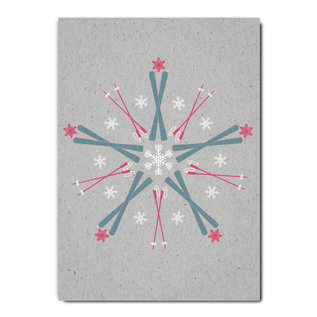 fzgc044 |  Gray-Code | Ski Kaleidoskop - Postkarte A6