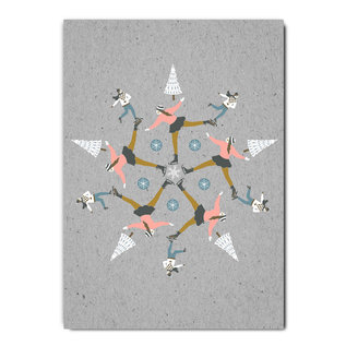 fzgc045 |  Gray-Code | Skating Kaleidoskop - Postkarte A6